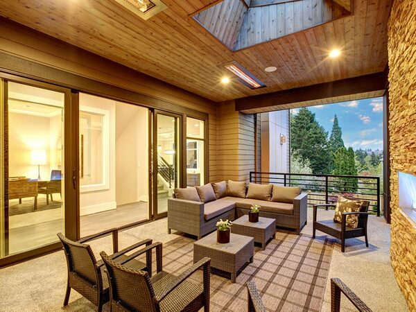 High end deck living space